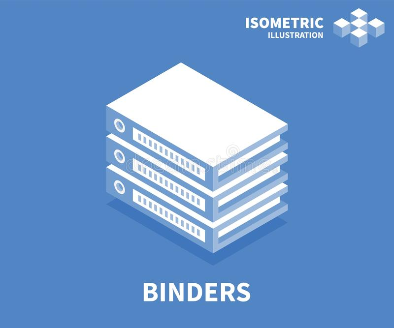 Binders icon. Isometric template for web design in flat 3D style. Vector illustration vector illustration