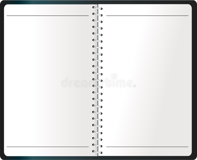 binding anteckningsbokvektor för dagordning royaltyfri fotografi