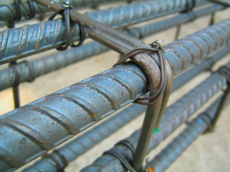 Binding for structural steel. construction. stock photos