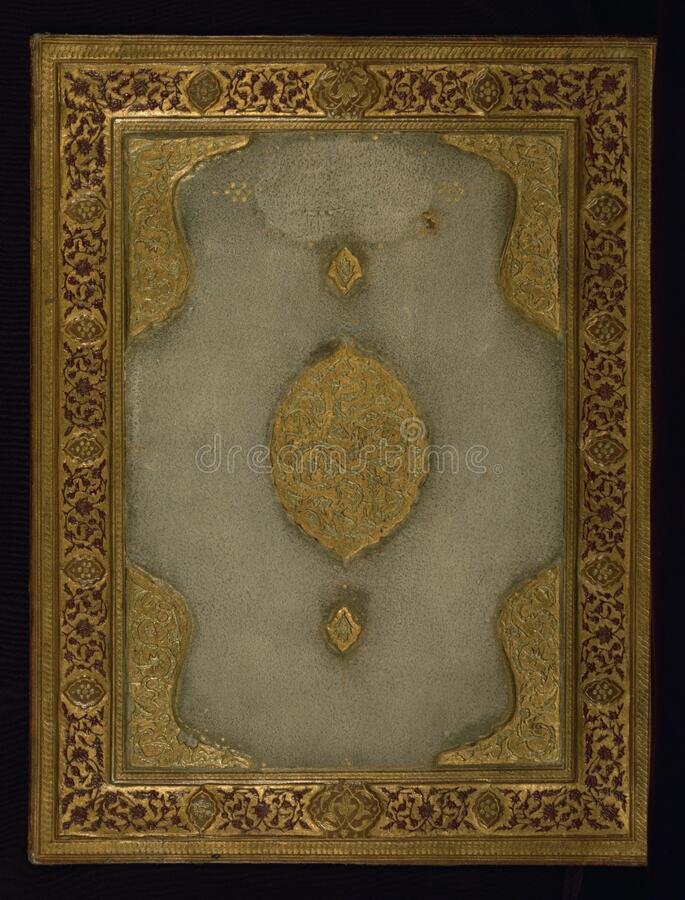Binding, Walters Art Museum W.672, Upper board outside stock photo