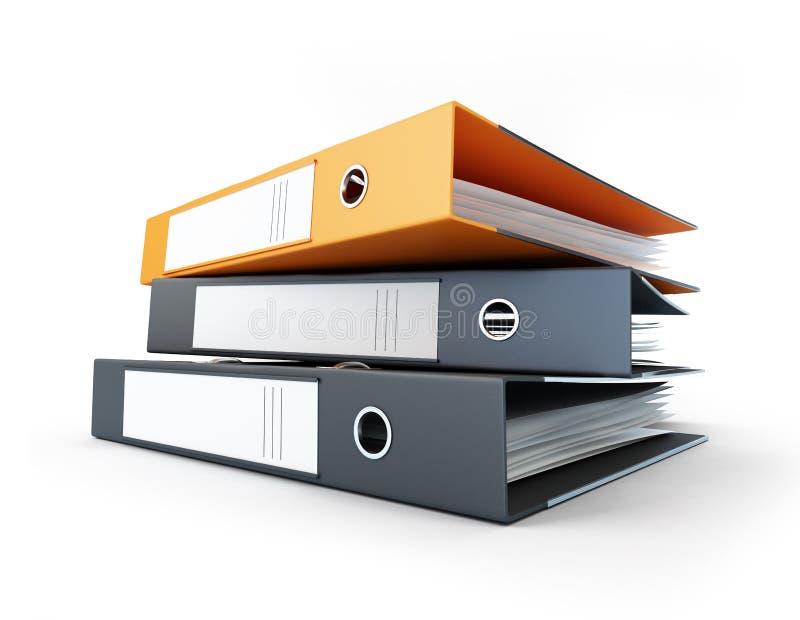 Bindmiddel, bureauomslagen stock illustratie