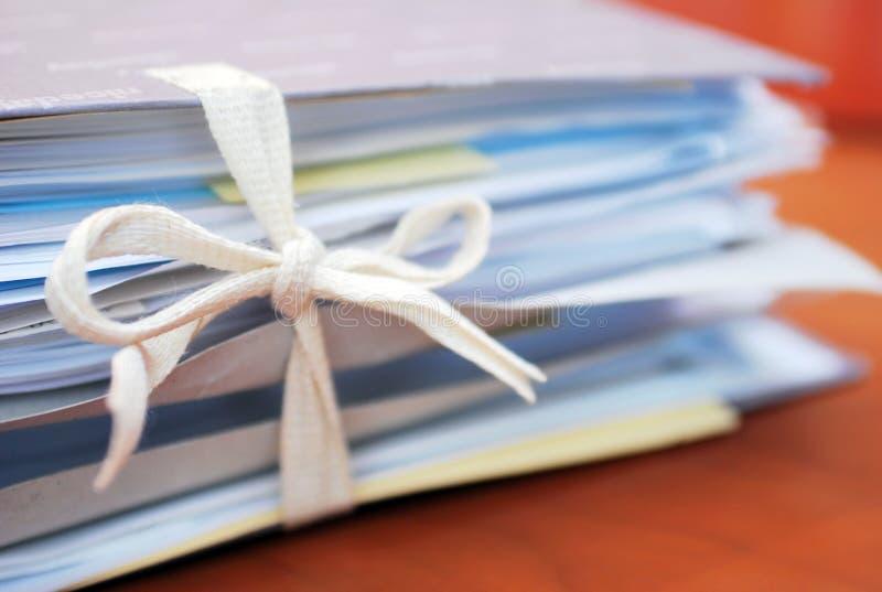 Bindmiddel van documenten royalty-vrije stock afbeeldingen