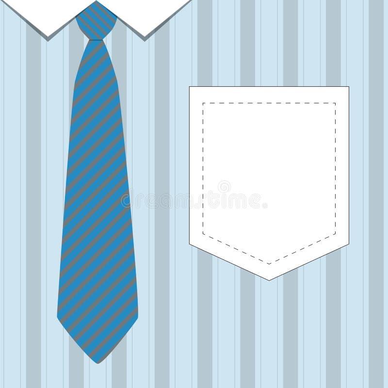 Bindung und Hemd für Vater Day lizenzfreie abbildung