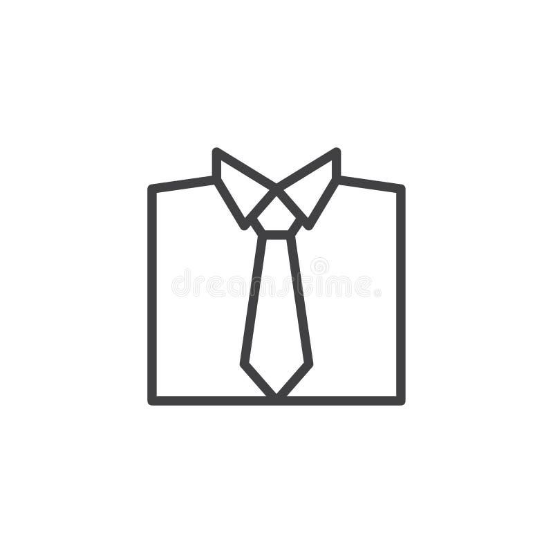 Bindungs- und Hemdlinie Ikone stock abbildung