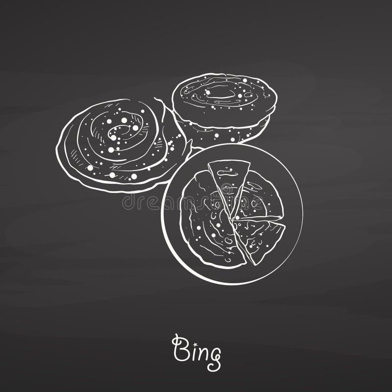 Bing karmowy nakreślenie na chalkboard royalty ilustracja
