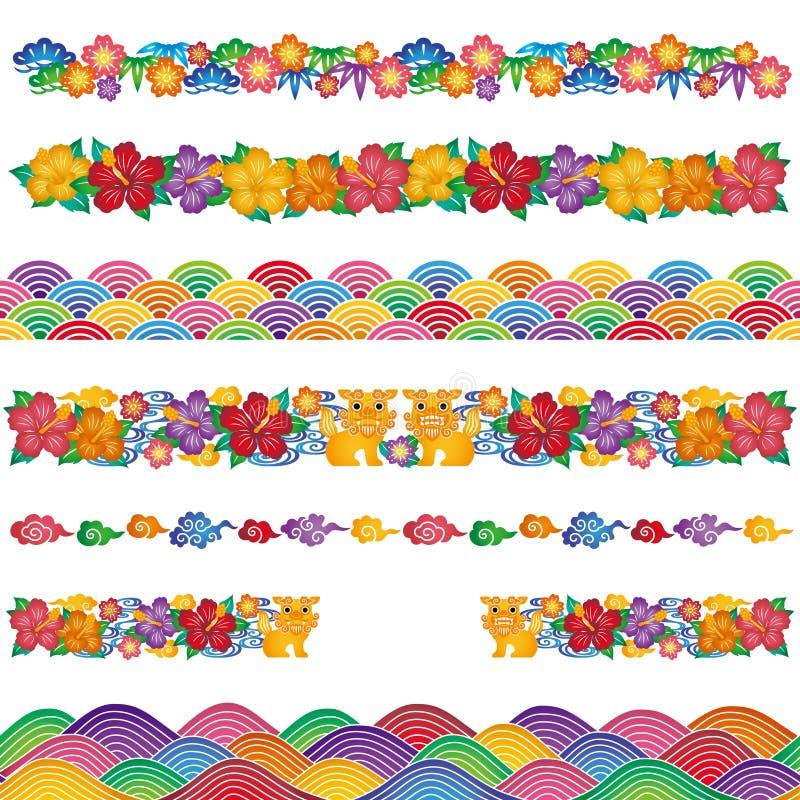Aziatisch traditioneel ontwerp stock illustratie
