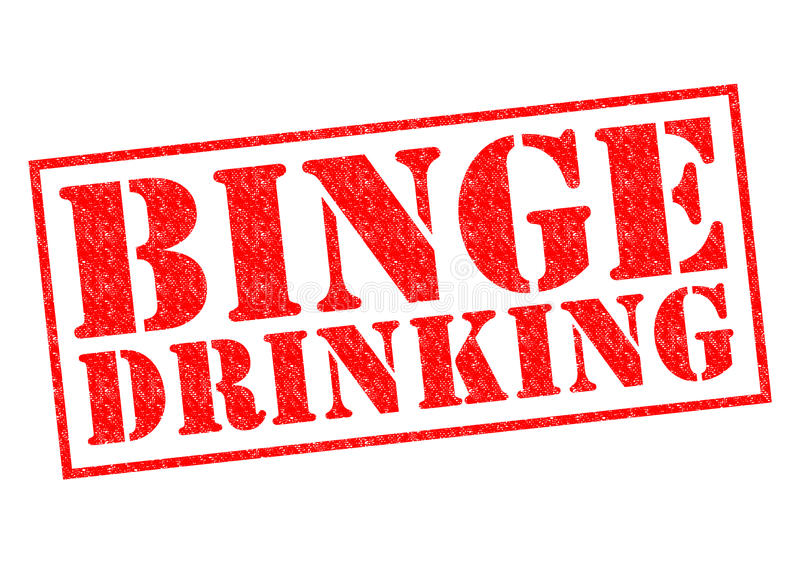 BINGE DRINKING. Red Rubber Stamp over a white background stock photography