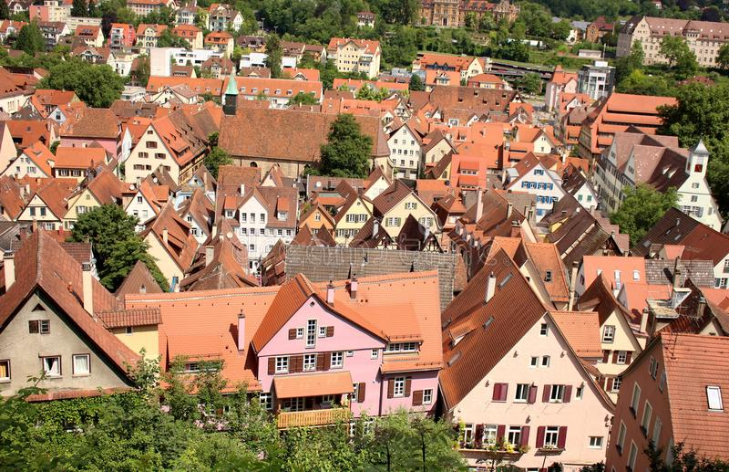 Bingen del ¼ di TÃ o Tuebingen, Germania fotografie stock