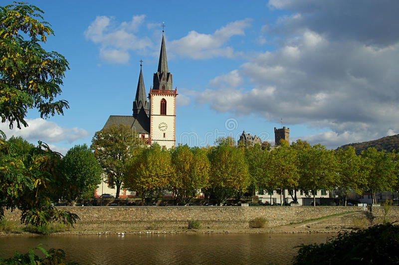 Bingen kyrka arkivbild