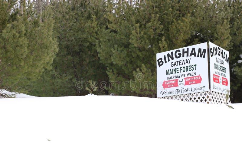 Bingham Maine stock foto's