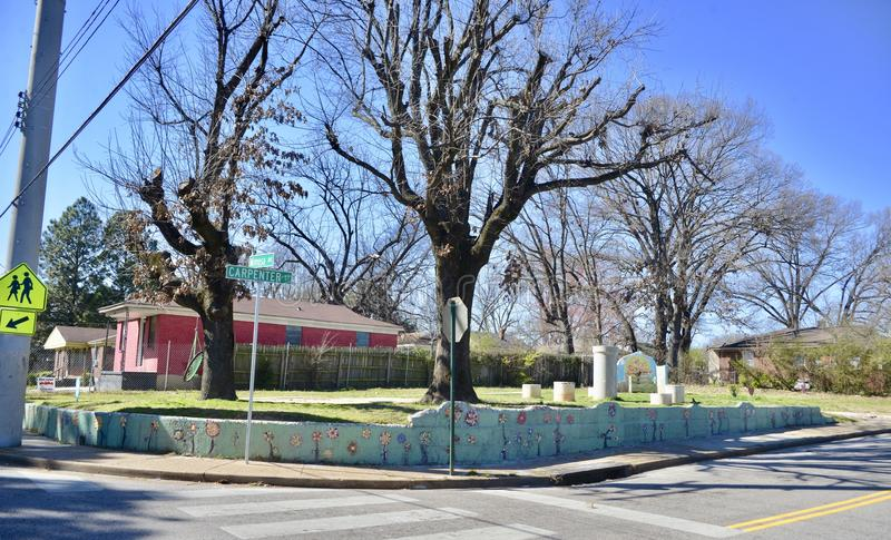 Binghampton społeczności ogród, Memphis, TN zdjęcia royalty free