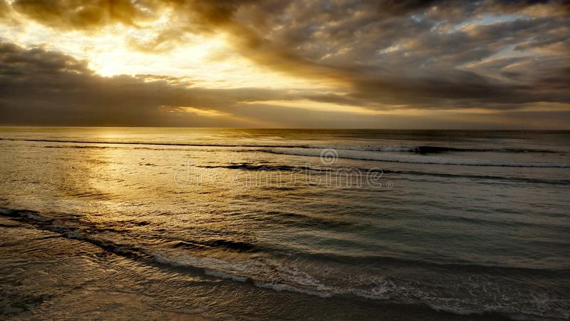 Bingin海滩巴厘岛 免版税库存图片