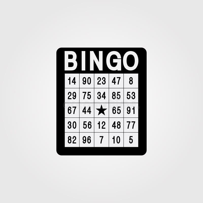 bingo Único ícone liso no fundo branco ilustração stock