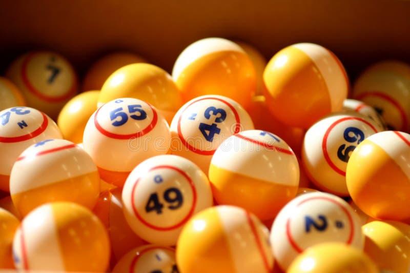 bingo σφαιρών στοκ εικόνες