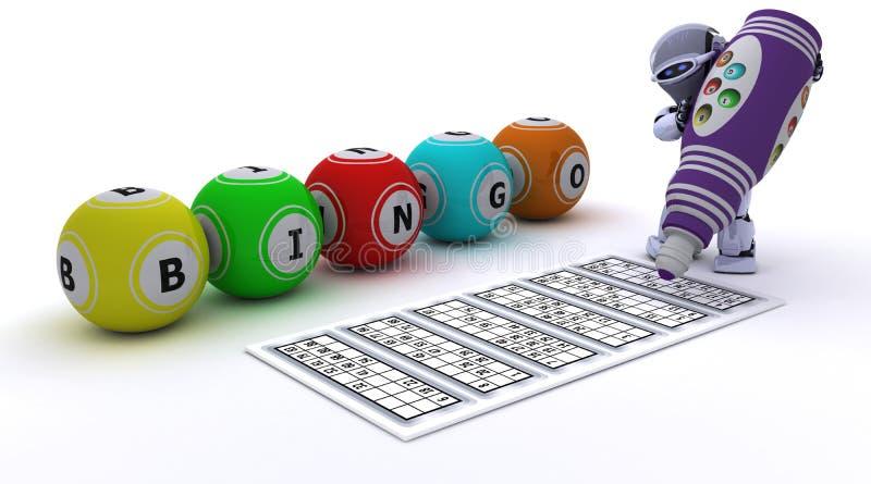 bingo играя робот иллюстрация штока