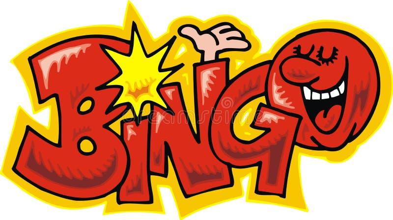 Bingo текста иллюстрация штока