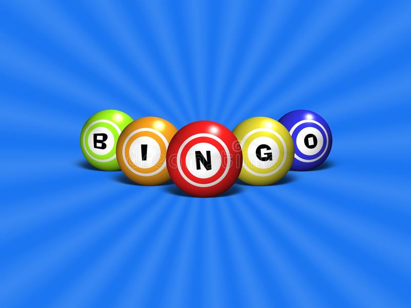 Bingo royaltyfri illustrationer