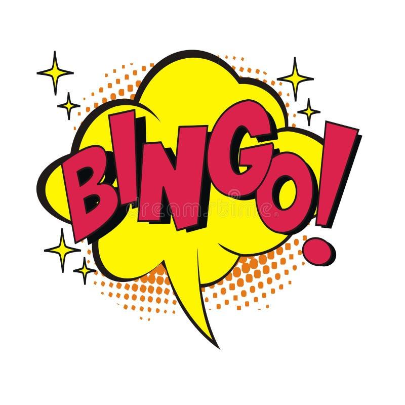 Bingo bąbla mowa z halftone tłem ilustracja wektor