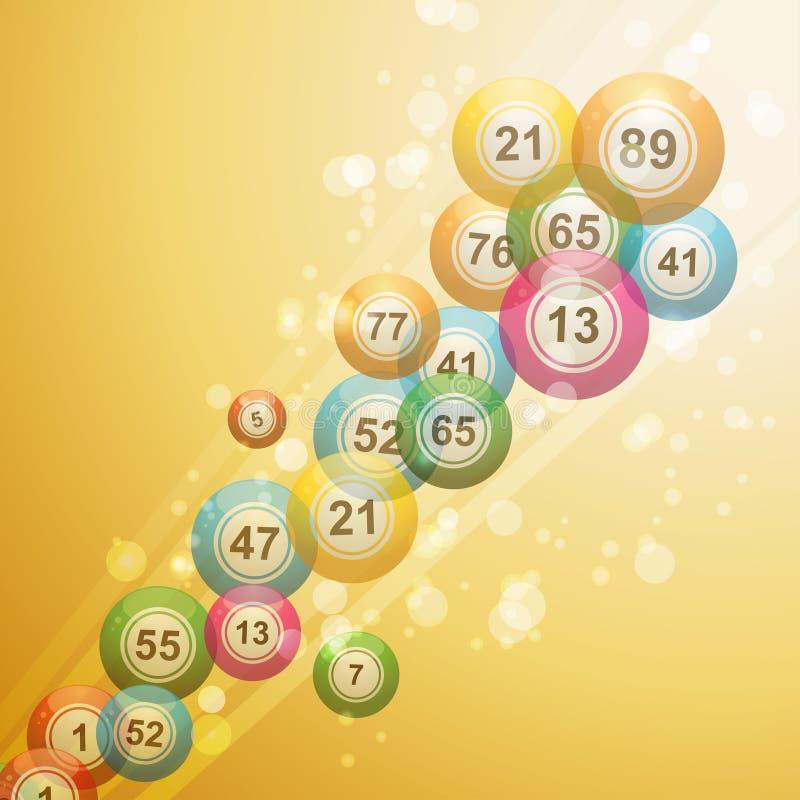 Bingo ball border royalty free illustration