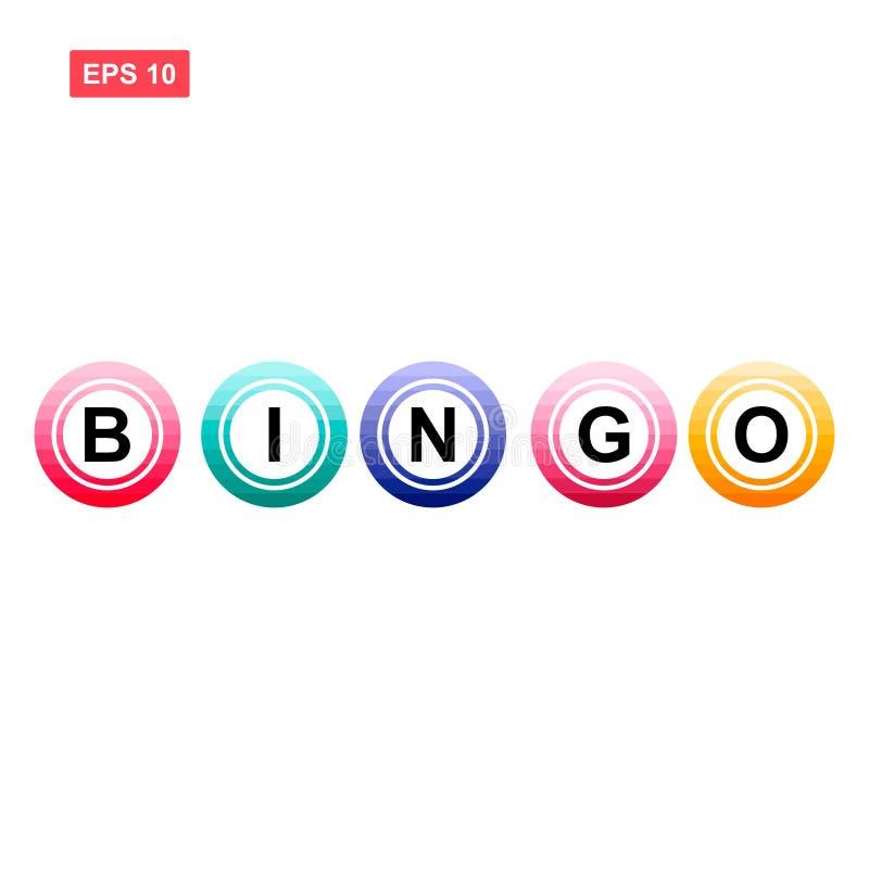 Bingo ball vector isolated colorful 3 vector illustration