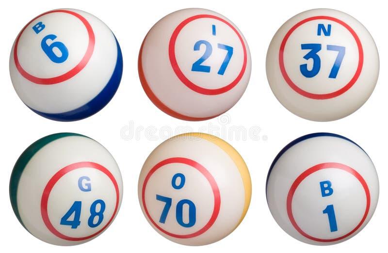 6 Bingo-Ballen royalty-vrije illustratie