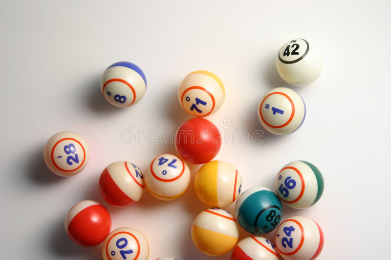 Bingo balls. On white royalty free stock photography
