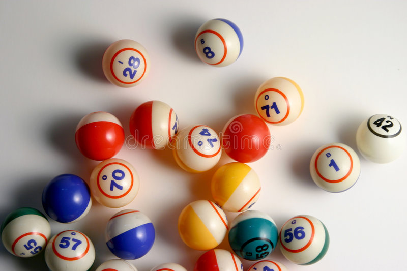 Bingo Balls. On white royalty free stock images