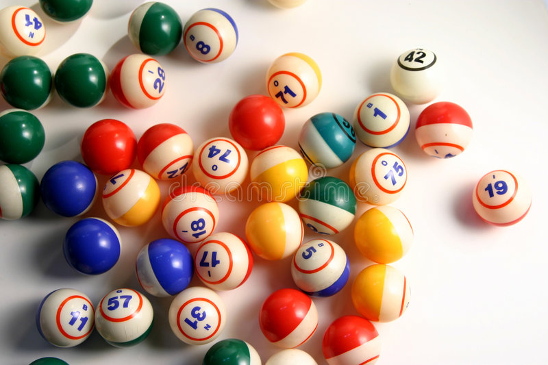 Bingo Balls. On white stock photo