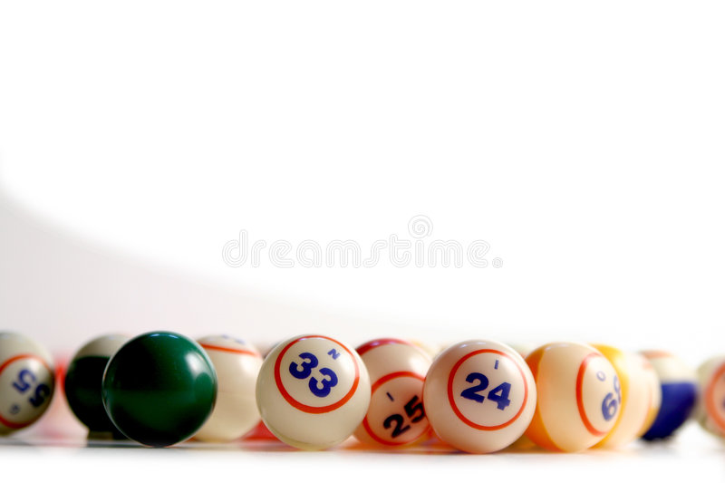 Bingo Balls. On white stock image