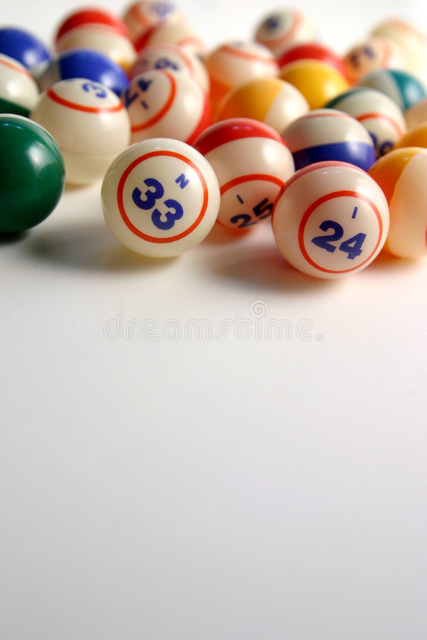 Bingo Balls. On white stock photography