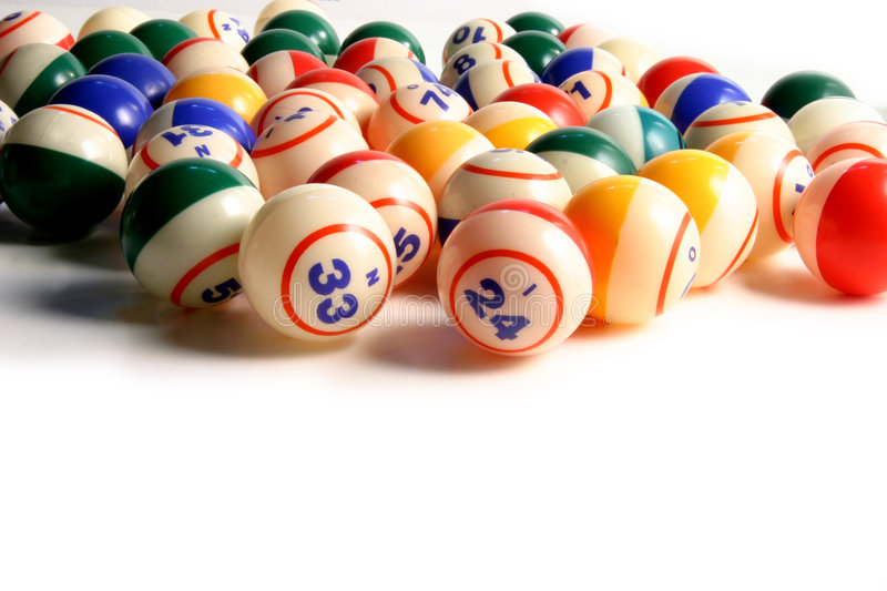 Bingo Balls. On white stock photos