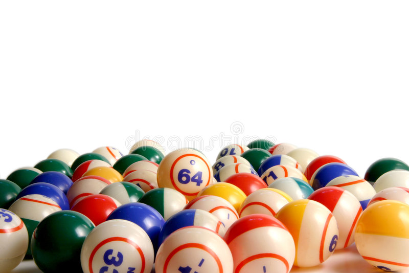 Bingo balls. On white stock images