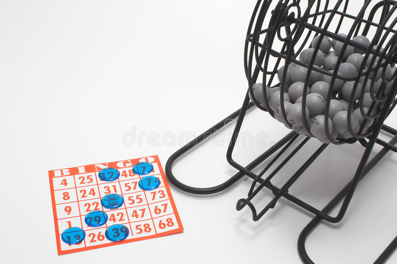 Bingo Cage and Card royalty free stock image