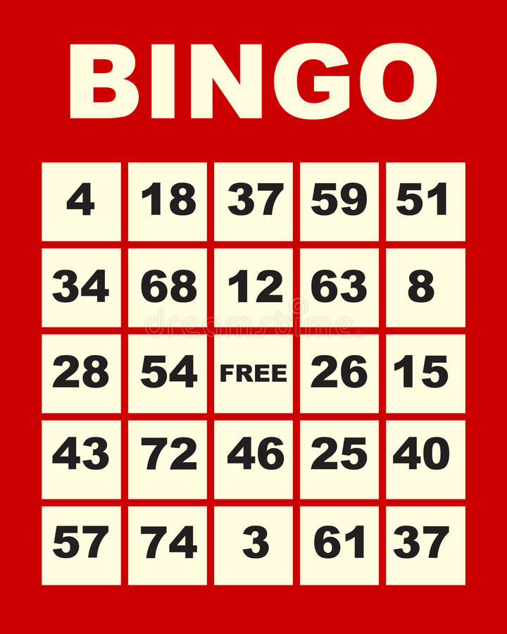 Bingo card vector illustration