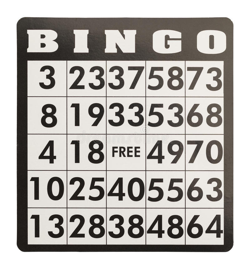 Bingo Card royalty free stock image