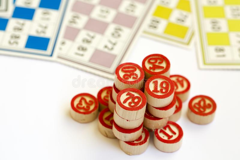 Bingo Cards Tombola / Lotto And With Numbers Stock Photo - Image of