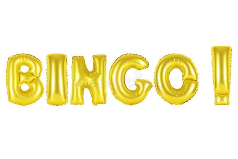 Bingo, color oro fotos de archivo libres de regalías