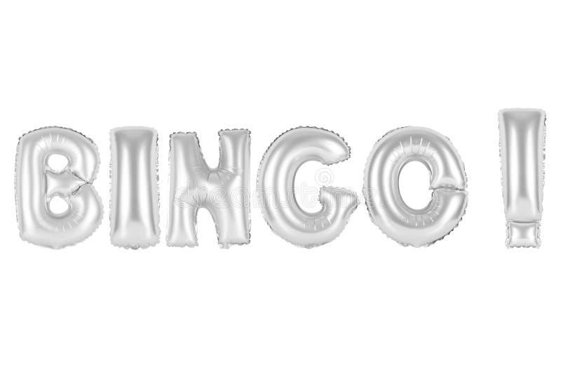 Bingo, cor do cinza do cromo imagens de stock