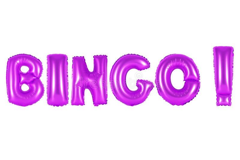 Bingo, cor roxa imagens de stock royalty free