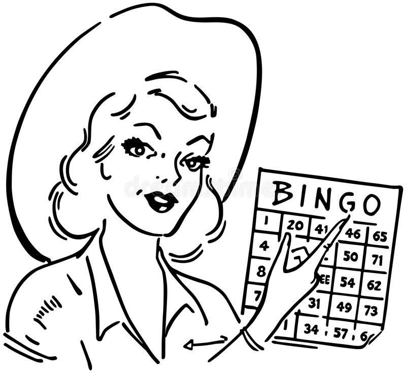 Bingo Gal vektor illustrationer