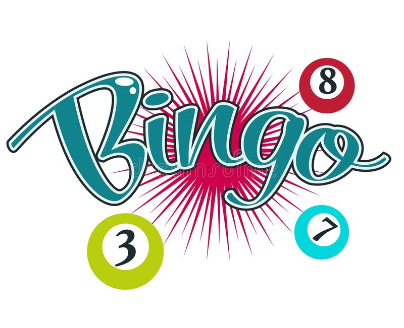 Bingo gambling game, casino club isolated icon vector illustration
