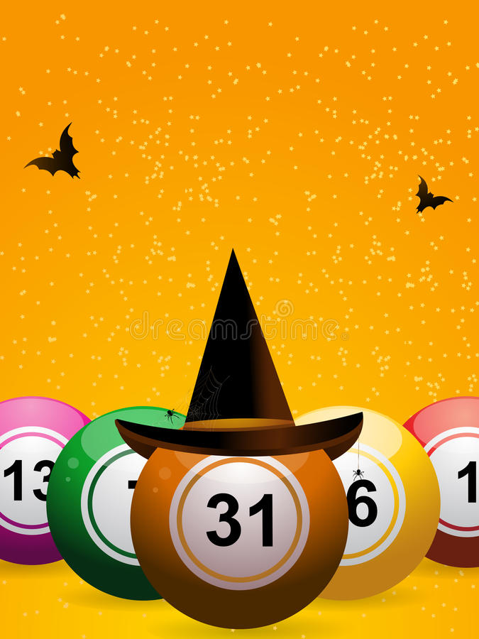 Bingo Halloween ilustracja wektor