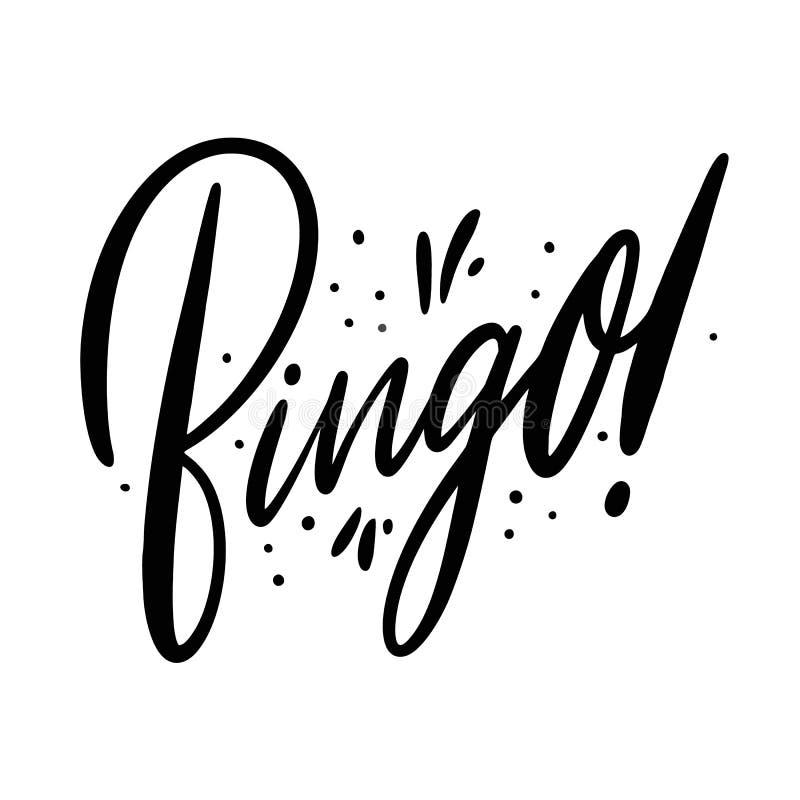 bingo Hand gezeichnete Vektorbeschriftung Getrennt auf weißem Hintergrund vektor abbildung