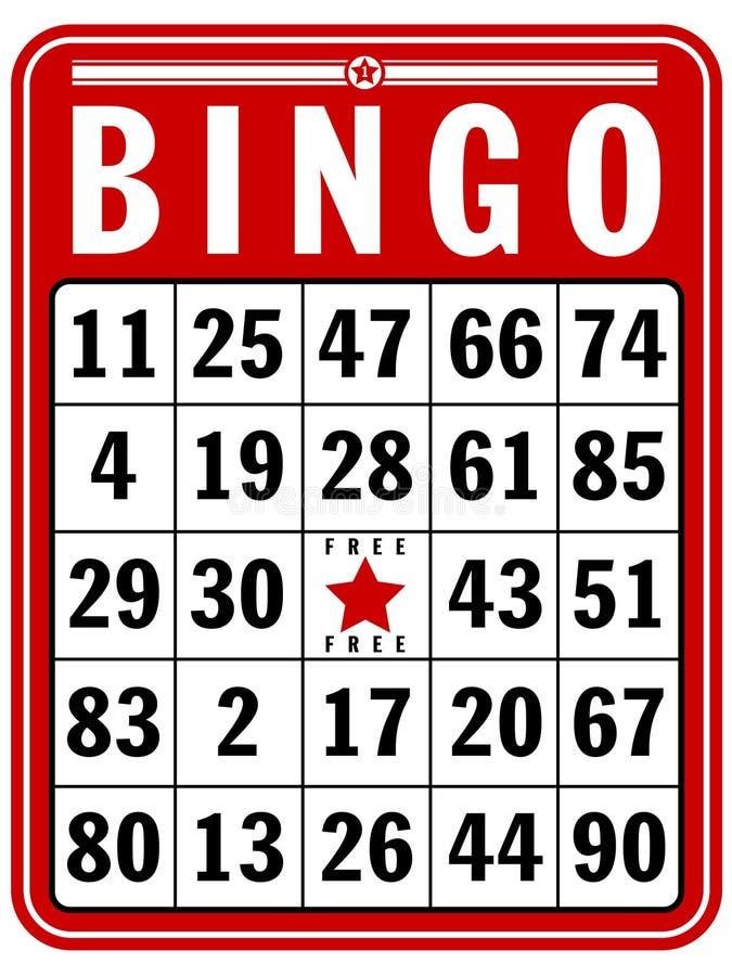 Bingo-Kerbe-Karte lizenzfreie abbildung