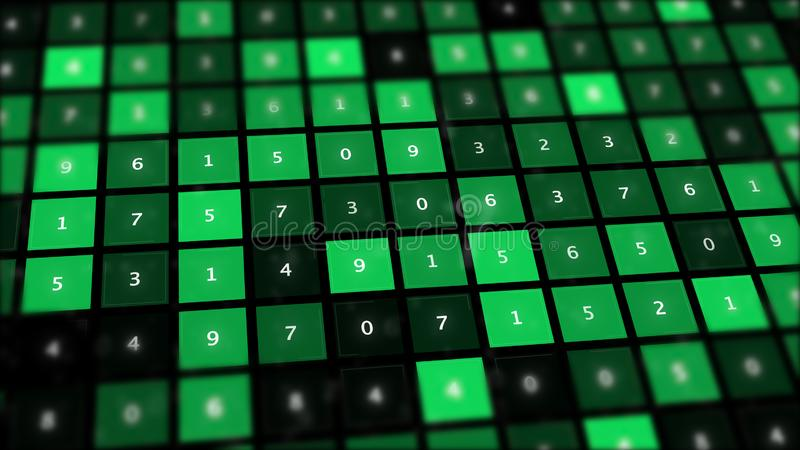 Bingo liczb abstrakta gemowa deska ilustracja wektor