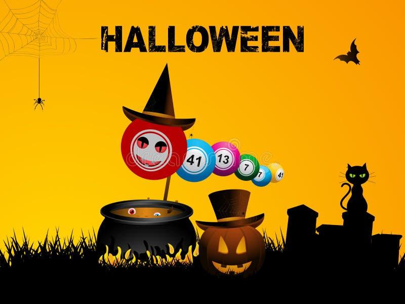 Bingo piłek Halloween tło ilustracji
