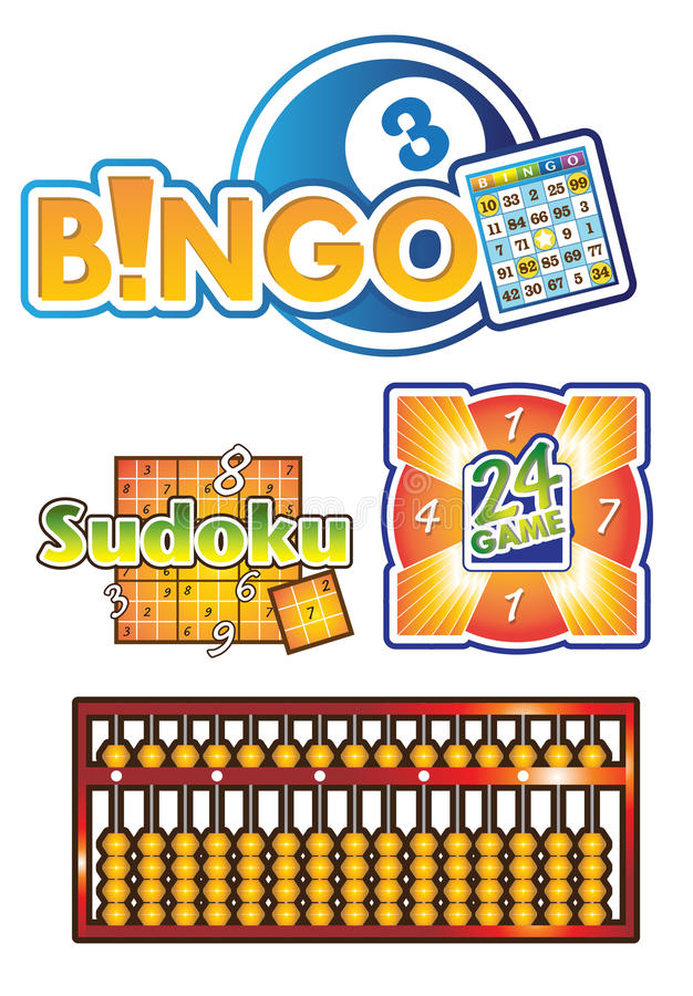 Bingo, vector del juego del logotipo del ábaco libre illustration