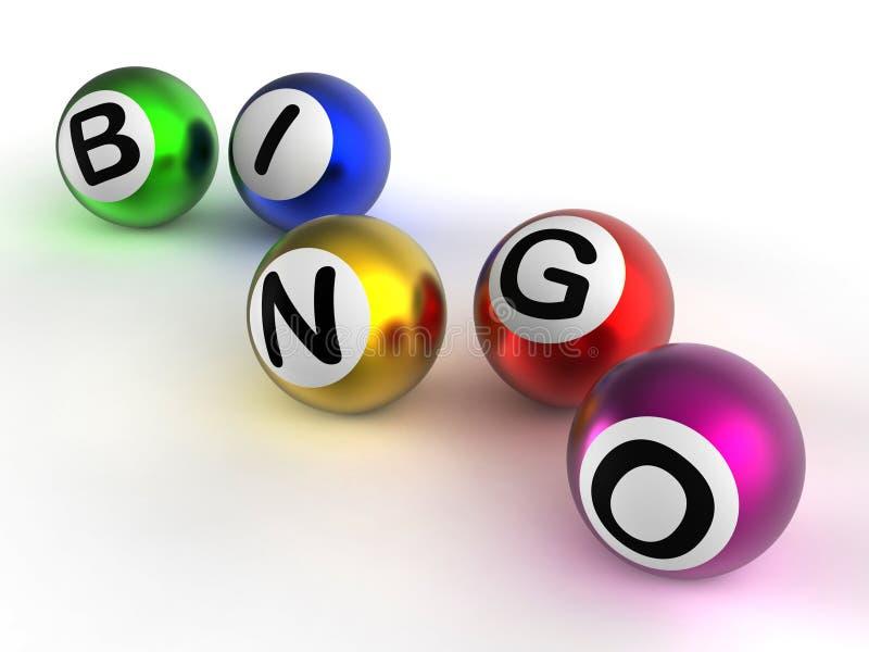 Bingoballen die Geluk tonen bij Loterij stock illustratie