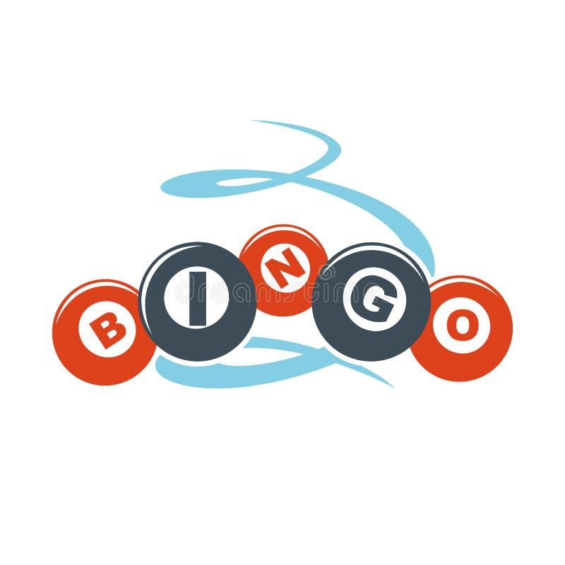 Bingobuchstaben auf bunten Bällen übergeben das gezogene lokalisierte Muster stock abbildung