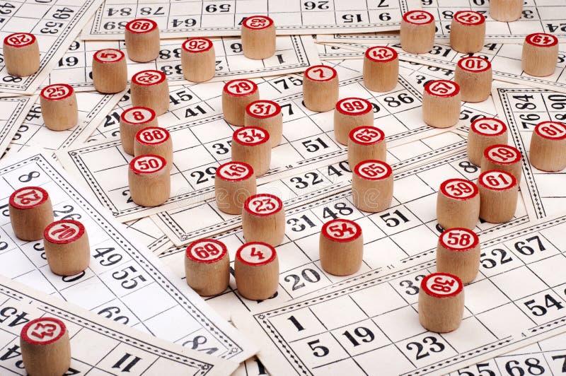 bingoen cards kegs arkivfoto